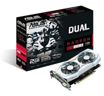 ASUS RADEON DUAL-RX460-2G 2GB GDDR5 1200MHZ DVI HDMI DP    IN CTLR (90YV09L0-M0NA00)