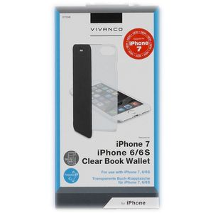 VIVANCO Clear Book Case iPhone 7, Black (2837538)