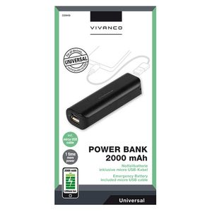 VIVANCO Power Bank 2000mAh (2833949)