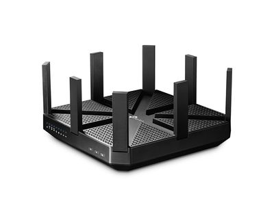 TP-LINK AC5400 Tri-Band Wireless Gigabit Router Broadcom 1.4GHz dual-core CPU 2167Mbpsx2 at 5GHz + 1000Mbps at 2.4GHz 802.11ac/ a/ b/ g (ARCHER C5400)