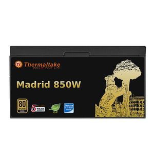 THERMALTAKE Madrid 850W power supply 80Plus GOLD certified 14cm fan ATX 12V V2.3 u. EPS 12V flat cable cablemanagement (W0495RE)