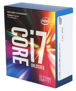 INTEL Core I7-7700K 4,2GHz LGA1151 8M Cache Boxed CPU (BX80677I77700K)