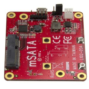 STARTECH USB to mSATA Converter for Raspberry Pi and Development Boards	 (PIB2MS1)