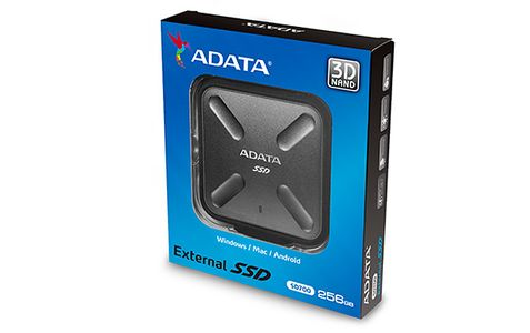 A-DATA Adata SSD SD700 256GB, 440/ 430MB/ s,  USB3.1, black (ASD700-256GU31-CBK)