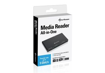 SHARKOON MEDIA READER ALL-IN-ONE CARDREADER                       IN ACCS (4044951019229)