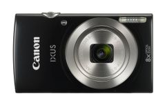 CANON Digital Camera IXUS 185 Black 20megapixel 28mm Wide Angle Lens 8x optical zoom with 16x zoomPlus DIGIC 4+