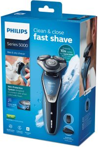 PHILIPS Shaver Series 5000 Turbo+ Mode MultiPrecision blade systemWashable 60+ min shaving/ 1h charge Color: AQUAMARINE (S5630/12)