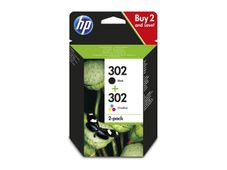 HP 302 Ink Cartridge Combo 2-Pack
