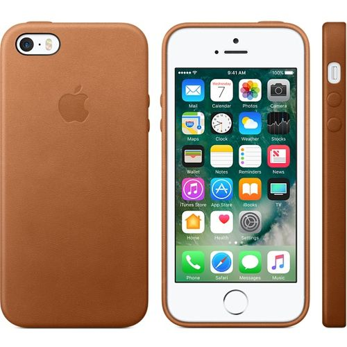 APPLE iPhone SE Leather Case - Saddle Brown (MNYW2ZM/A)