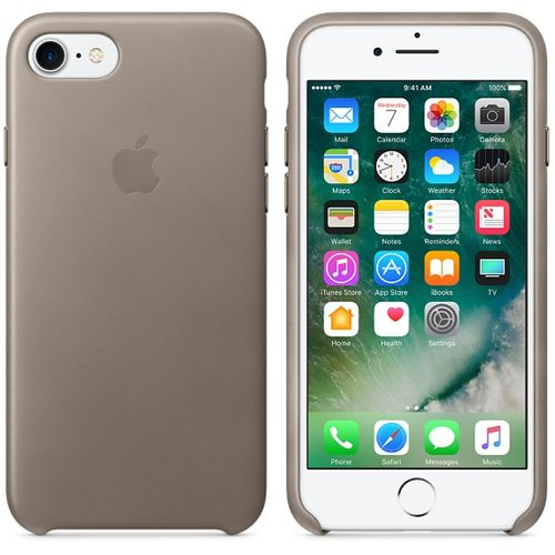 APPLE iPhone 7 Leather Case - Taupe (MPT62ZM/A)