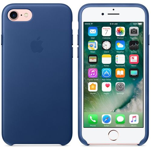 APPLE iPhone 7 Leather Case - Sapphire (MPT92ZM/A)