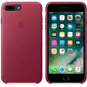 APPLE iPhone 7 Plus Leather Case - Berry (MPVU2ZM/A)