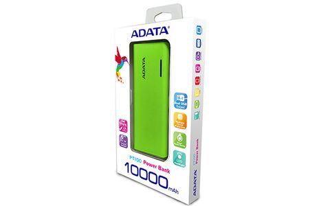 A-DATA ADATA PT100 Power Bank 10000mAh Green/ Yellow (APT100-10000M-5V-CGRYL)