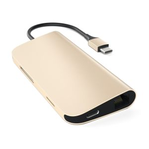 SATECHI Type-C MultiPort Adapter 4KGuld, HDMI, 3 x USB 3.0, USB-C, Ethernet (ST-TCMAG)