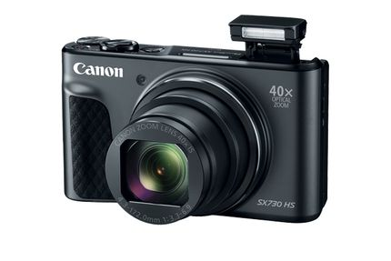 CANON Digital Camera PowerShot SX730 Black 20.3 Megapixel CMOS-Senor 40x Wide-Zoom Full HD Wlan (1791C002)