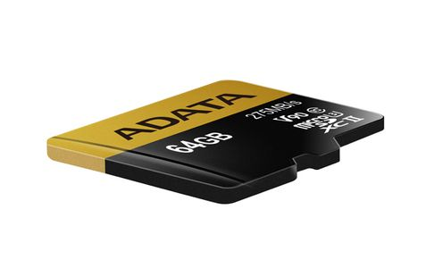 A-DATA ADATA 64GB MicroSD UHS-II U3 CLASS10 w/SD adapter (AUSDX64GUII3CL10-CA1)