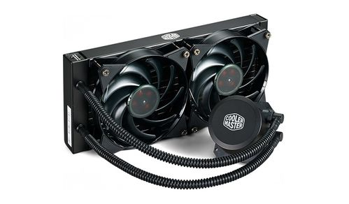 Cooler Master MasterLiquid Lite 240 277 x 119.6 x 27mm Radiator, 650-2000 RPM, AMD AM4/Intel LGA2066 included (MLW-D24M-A20PW-R1)