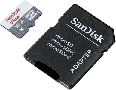 SANDISK Ultra Android microSDHC + SD Adapter 16GB 80MB/s Class 10 (SDSQUNS-016G-GN3MA)