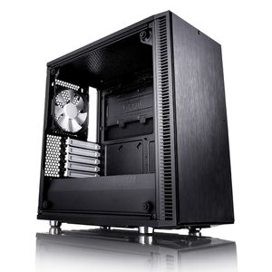 FRACTAL DESIGN Define Mini C Tempered Glass Svart (FD-CA-DEF-MINI-C-BK-TG)