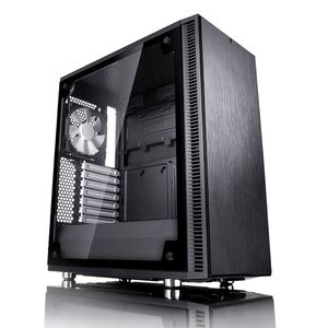 FRACTAL DESIGN Define C Tempered Glass Svart (FD-CA-DEF-C-BK-TG)