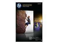 HP Advanced glanset fotopapir,  25 ark / 10 x 15 cm kantløs (Q8691A)
