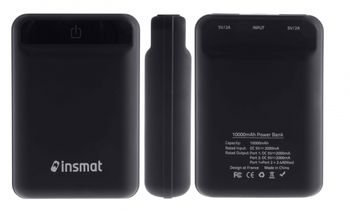 INSMAT POWER BANK 10 000MAH LI-PO CREDIT CARD (860-3050)