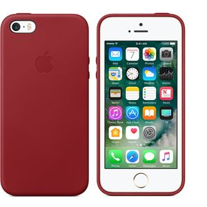 APPLE iPhone SE Leather Case - (PRODUCT)RED (MR622ZM/A)