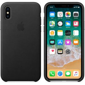 APPLE IPHONE X LEATHER CASE BLACK (MQTD2ZM/A)