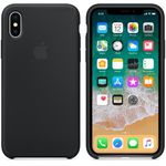 APPLE Silikondeksel iPhone X, Svart Deksel til iPhone X (MQT12ZM/A)