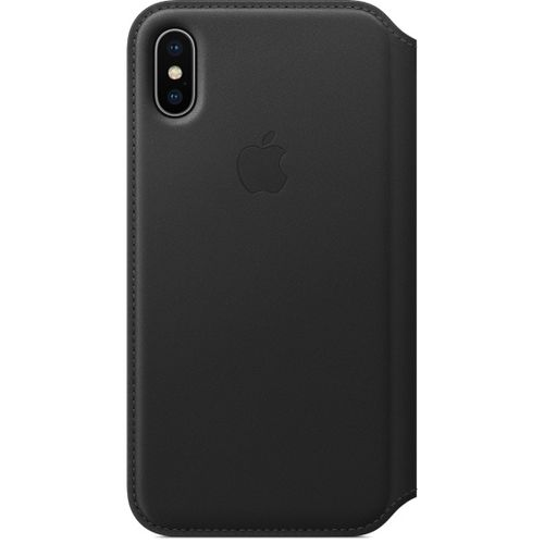 APPLE Skinnfolio iPhone X, Svart Deksel til iPhone X (MQRV2ZM/A)