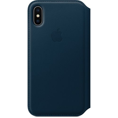 APPLE iPhone X Leather Folio - Cosmos Blue (MQRW2ZM/A)
