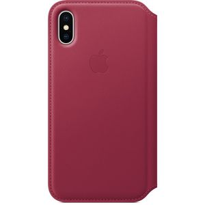 APPLE iPhone X Leather Folio - Berry (MQRX2ZM/A)