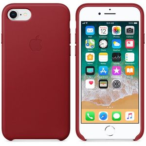 APPLE iPhone 8/7 Leather Case - PRODUCT RED (MQHA2ZM/A)