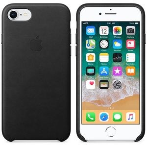 APPLE iPhone 8 / 7 Leather Case - Black (MQH92ZM/A)