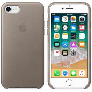 APPLE iPhone 8 / 7 Leather Case - Taupe (MQH62ZM/A)