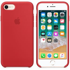 APPLE iPhone 8/7 Silicone Case - PRODUCT RED (MQGP2ZM/A)