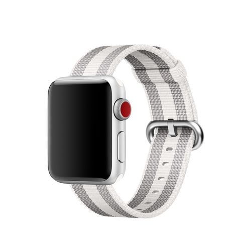 APPLE 38MM WHITE STRIPE WOVEN NYLON . ACCS (MQVH2ZM/A)