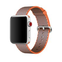 APPLE 42mm Spicy Orange Check Woven Nylon (MQVP2ZM/A)