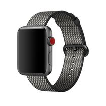 APPLE 42mm Black Check Woven Nylon (MQVK2ZM/A)