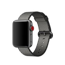 APPLE 38mm Black Check Woven Nylon (MQV92ZM/A)