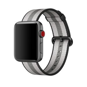 APPLE 42MM BLACK STRIPE WOVEN NYLON . ACCS (MQVR2ZM/A)