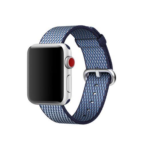 APPLE 38MM MIDNIGHT BLUE CHECK WOVEN NYLON ACCS (MQVC2ZM/A)