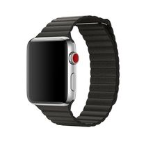APPLE 42mm Charcoal Grey Leather Loop M (MQV62ZM/A)