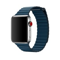 APPLE 42mm Cosmos Blue Leather Loop L (MQV72ZM/A)