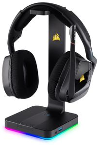 CORSAIR Gaming ST100 RGB Premium headset stand with 7.1 Surr (CA-9011167-EU)