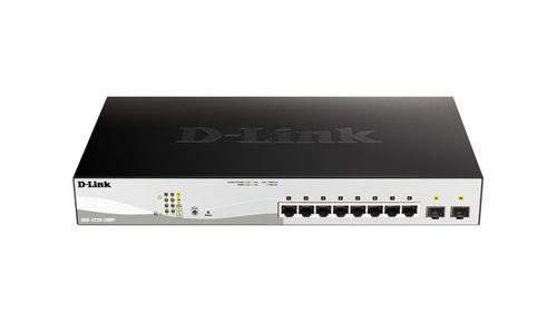 D-LINK Switch 280mm D-Link DGS-1210-10MP         2*SFP/ 8*GE PoE retail (DGS-1210-10MP)