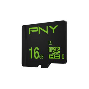 PNY Micro SDHC High Performance 16GB Class 10 w/adaptor (SDU16GHIGPER-1-EF)