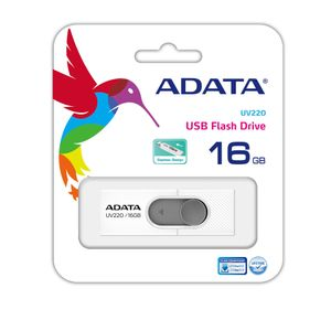 A-DATA ADATA UV220 16GB White/ Gray USB 2.0 (AUV220-16G-RWHGY)
