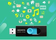 A-DATA ADATA UV220 64GB Black/ Blue USB 2.0 (AUV220-64G-RBKBL)