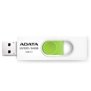 A-DATA 64GB UV320 USB 3.1. White/Gr. (AUV320-64G-RWHGN)
